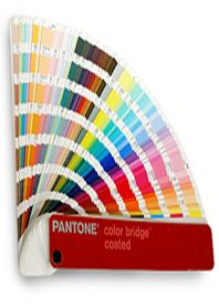 Pantone colour guide of Silk-screen